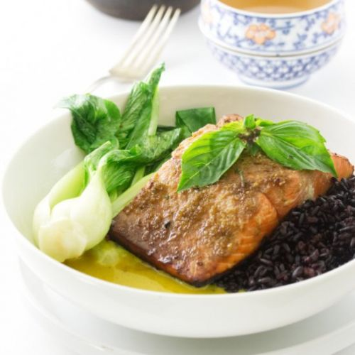 Salmon with Thai yellow curry