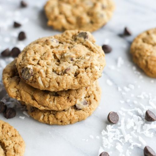Coconut Oatmeal Choc Chip Cookies