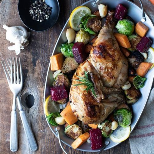 Rosemary Chicken w/ Roasted Veggies