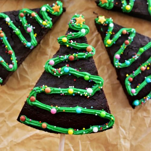 Christmas tree brownie