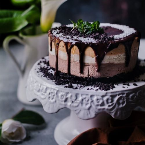 Eggless Triple Chocolate Mousse Cake