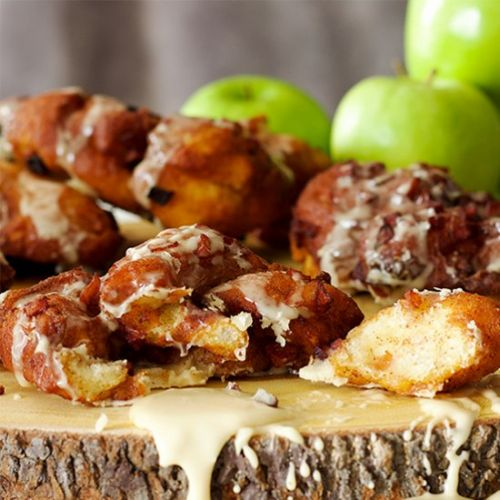 Apple Fritters with Maple Glaze