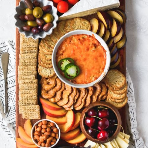 Cheese Board with Jalapeno Dip