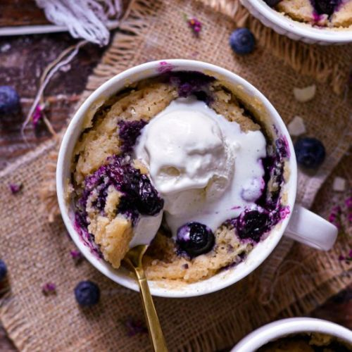 5 Min Vegan Blueberry Mug Cake