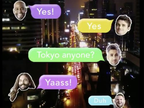 Watch the Fab Five Group-Text Their Way to Tokyo in 'Queer Eye: We're in Japan!' Trailer