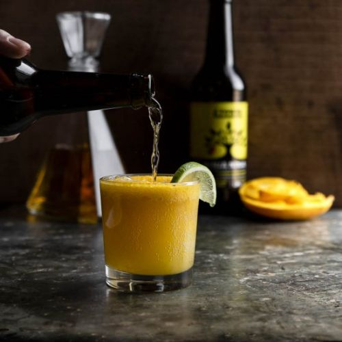 Mango hard ginger cider float