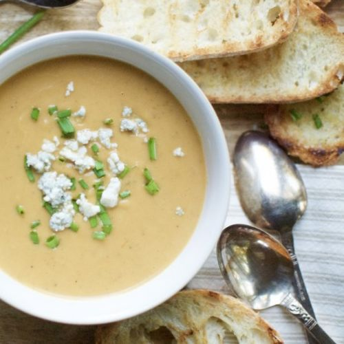 Roasted pear & butternut bisque