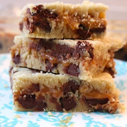 Caramel Chocolate Chip Cookie Bars
