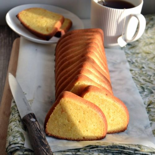 Easy silicone mold pound cake
