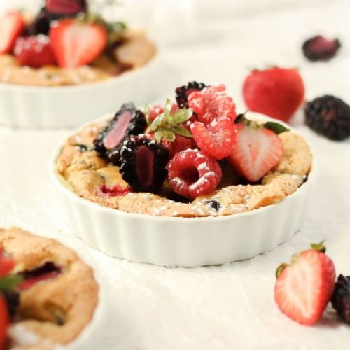 One Bowl Berry Olive Oil Cake