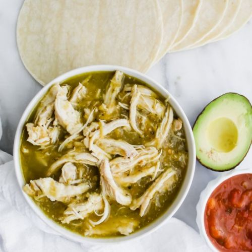 2 Ingredient Salsa Verde Chicken
