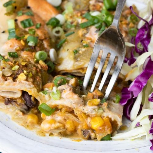 Black Bean and Pumpkin Enchiladas