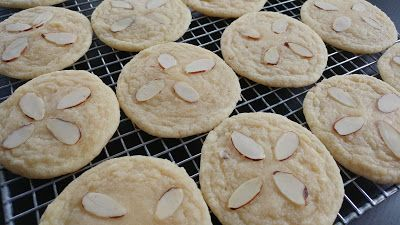 Soft and Chewy Almond Cookies