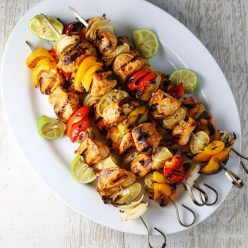 Grilled Chili Lime Chicken Kabobs
