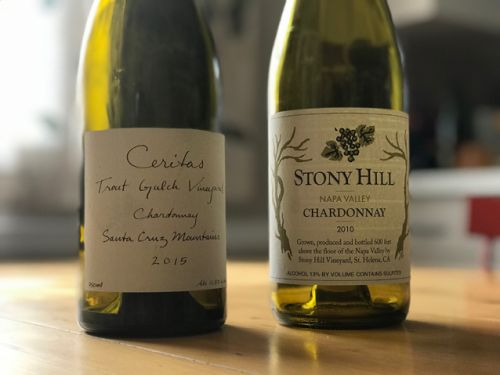 Two California Chardonnays that really wowed me this week