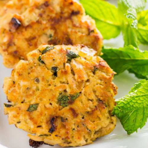 Onion and herb keto tuna cake