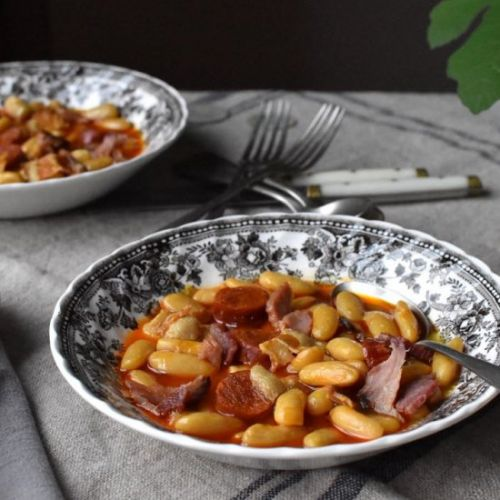 Fabada asturiana,bean and meat stew