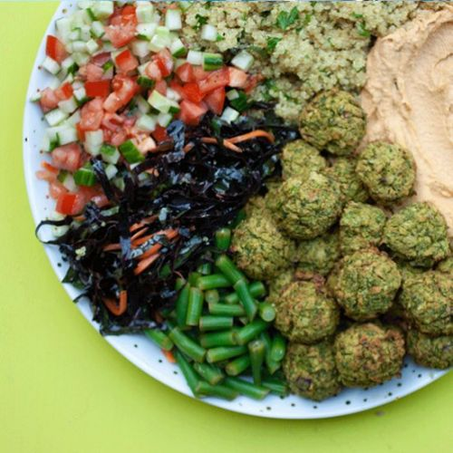 Green Pea and Mint Baked Falafels