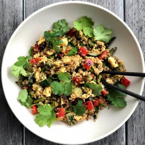 "Freekeh fried ""rice"""