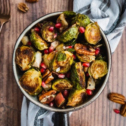 Apple Roasted Brussels Sprouts