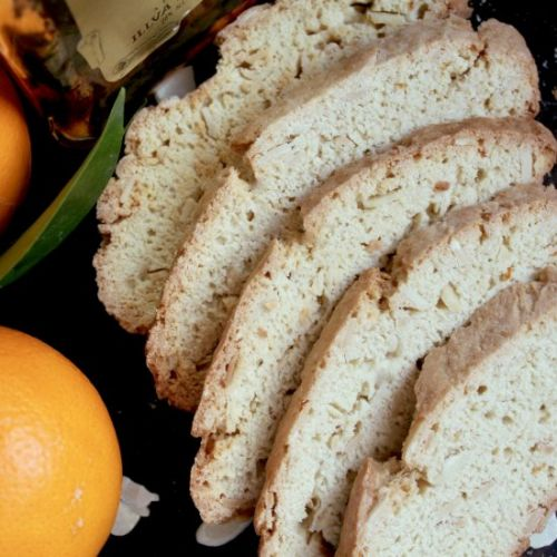 Almond and orange biscotti