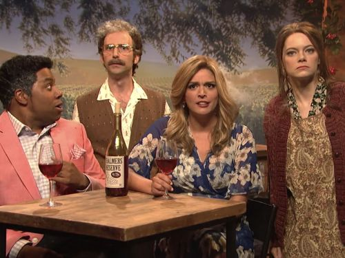 'SNL' Pokes Fun at Celebrity Wine Brands in 'Chalmers Reserve' Sketch Featuring Emma Stone