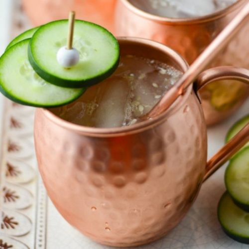 Cucumber Moscow Mules