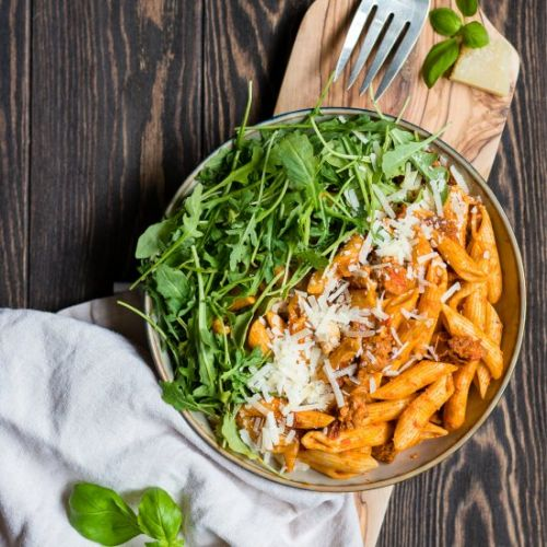 Penne alla Vodka with Chorizo