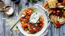 End Of Summer Turkey Bolognese With Herbed Whipped Ricotta