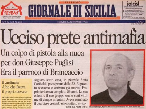 The priest the Mafia killed: the story of Padre Pino Puglisi, fictionalized by one of his students in a novel I translated