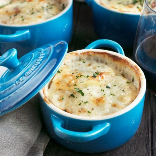 Cheesy Individual Potato Gratins