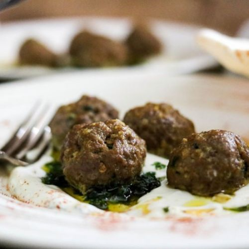 SPICED MEATBALLS WITH GREEK YOGURT