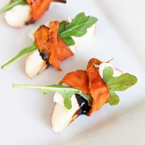Carrot Bacon Wrapped Apple Bites