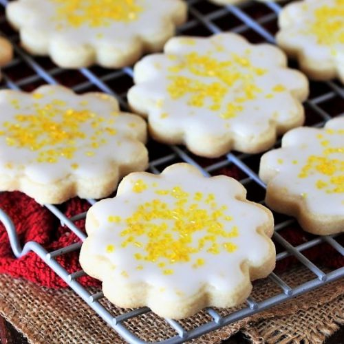 Lemon Glazed Butter Cookies