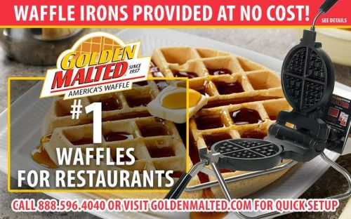 1 Demanded Waffles for Restaurants - Golden Malted Provides Waffle Irons at Setup
