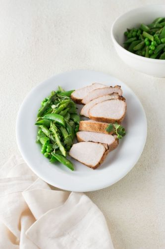 Spring Vegetables and Citrus Pork Loin