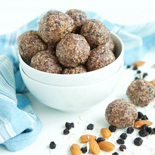 Blueberry Coconut Energy Balls
