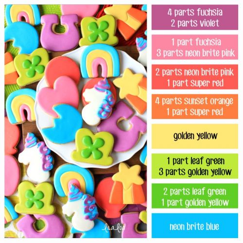 Lucky Charms Color Palette and Icing Formulas