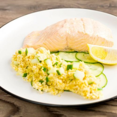 Poached Salmon Recipe with Cucumber