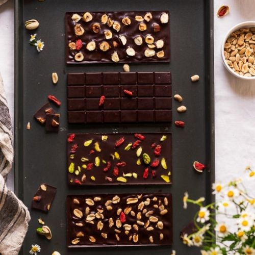 Homemade chocolate bars