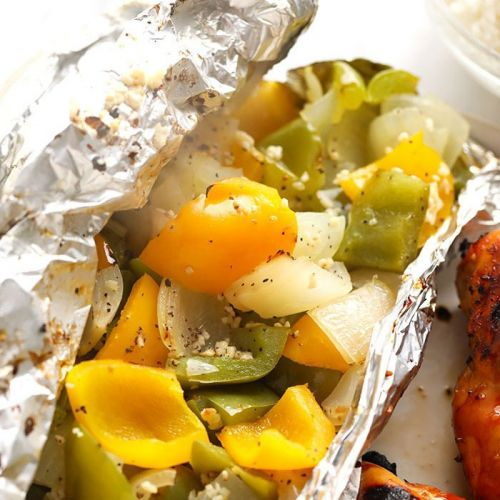 Easy Grilled Peppers and Onions