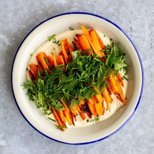 Roasted Carrots with Creamy Tahini