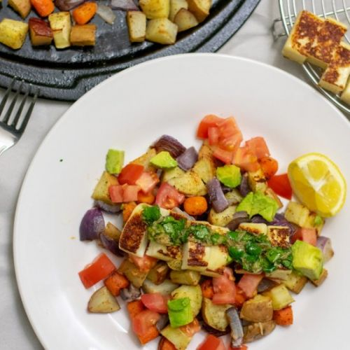 Roasted Veggies and Grilled cheese