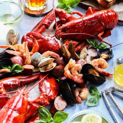 Easy summer kitchen clambake
