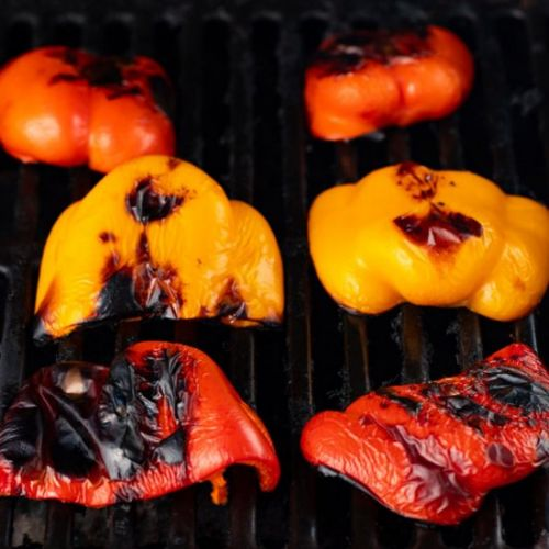 Sweet & Smoky Roasted Red Peppers