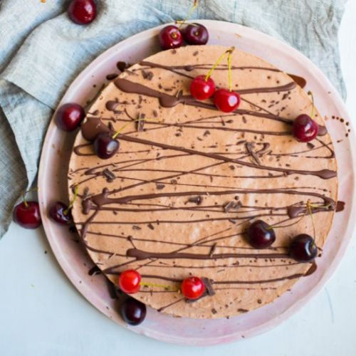 Chocolate Cherry Ice Cream Tart