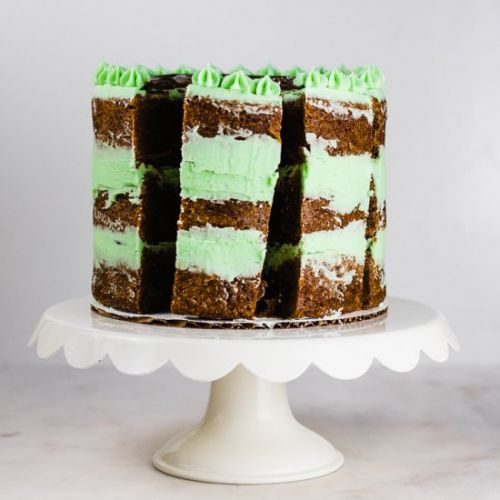 Chocolate Mint Brownie Cake