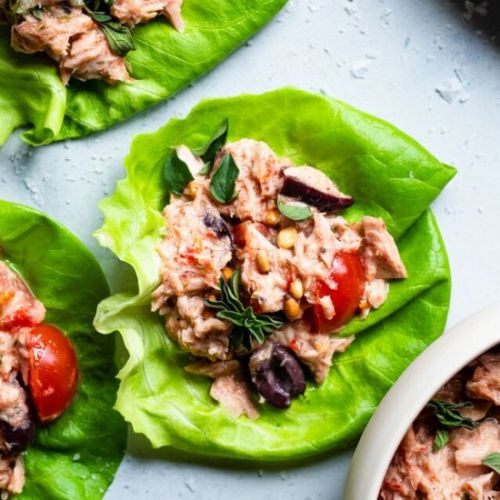 Low Carb Mediterranean Tuna Salad