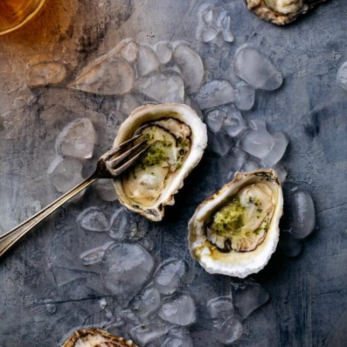 Oysters with Ginger-Lime Mignonette