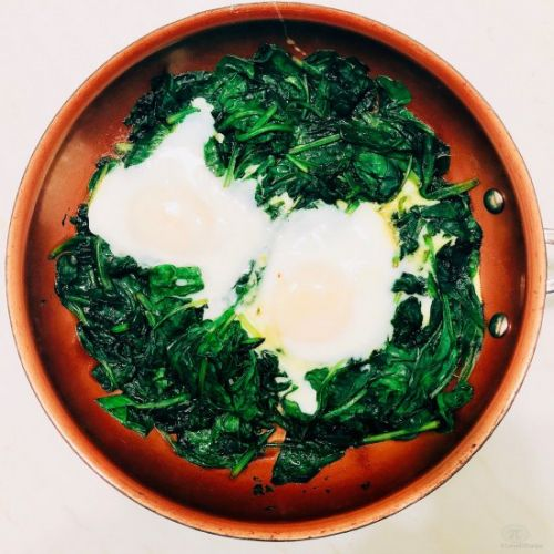 Herby Spinach Shakshuka for One